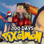 I Survived 100 Days In Minecraft Pixelmon… Here's What Happened
