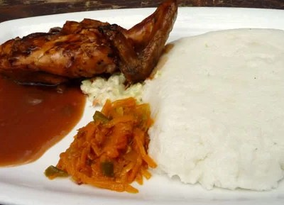 Pap and chicken