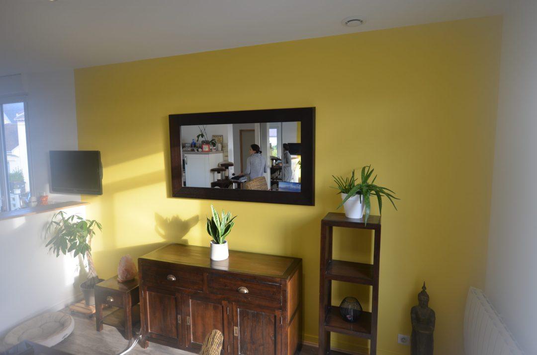 salle à manger peinture jaune