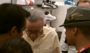 Fans at the Puma event during Stan Lee's appearance.