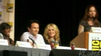 Rutina Wesley, Stephen Moyer, and Anna Paquin of True Blood