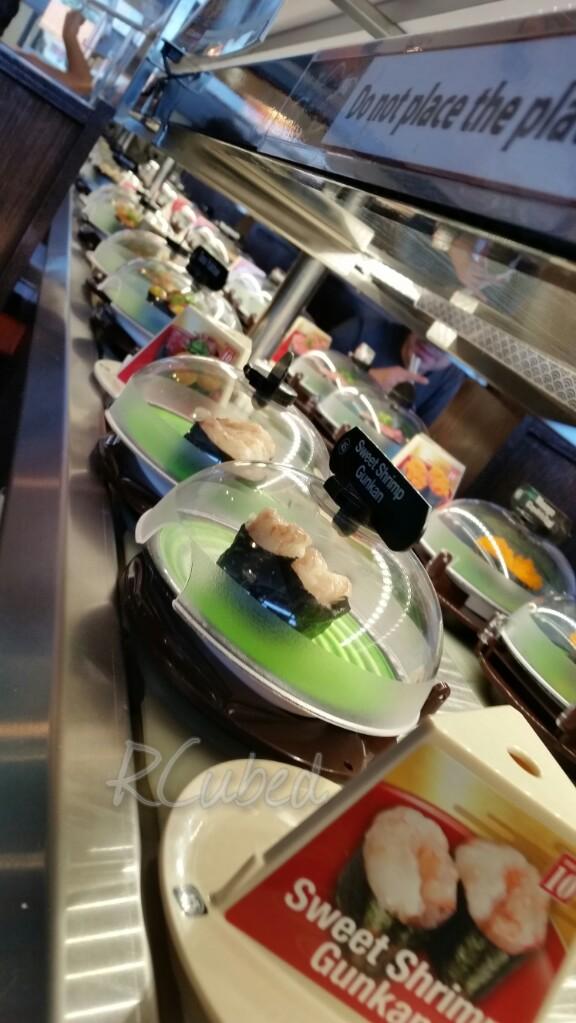 Revolving sushi goodness!