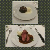 Beef tenderloin was melt-in-your-mouth amazing! And the warm chocolate souffle a la mode was just as good.