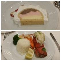 Lobster tail and Baked Alaska
