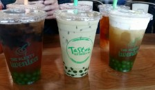 L - R: Bootea Shaker, Matcha Thai Milk Tea, Salted Cream Jasmine Tea