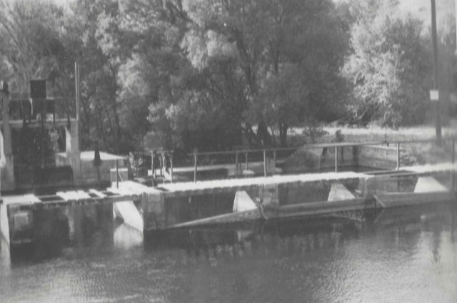 A diversionary weir at the mouth of American Fork canyon, constructed in the early 20th century, and used until approximately 1990.