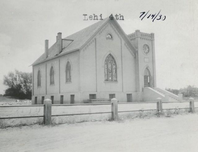 The Lehi 4th Ward Building in 1930. Photo courtesy of the Lehi Historical Society