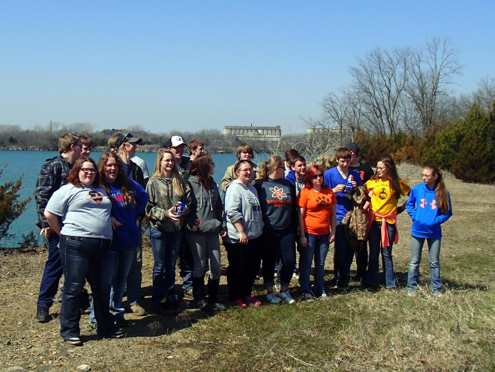 Upward Bound Volunteers Help Clear the Lehigh Portland Trails