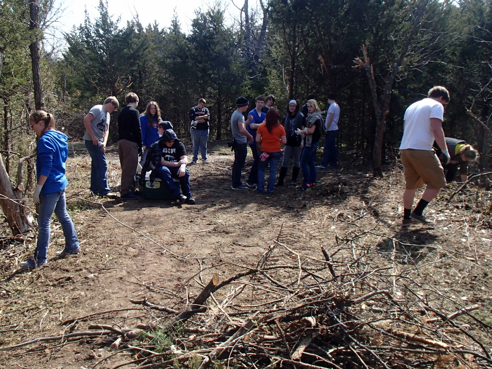 Upward Bound Volunteers Help Clear the Lehigh Portland Trails