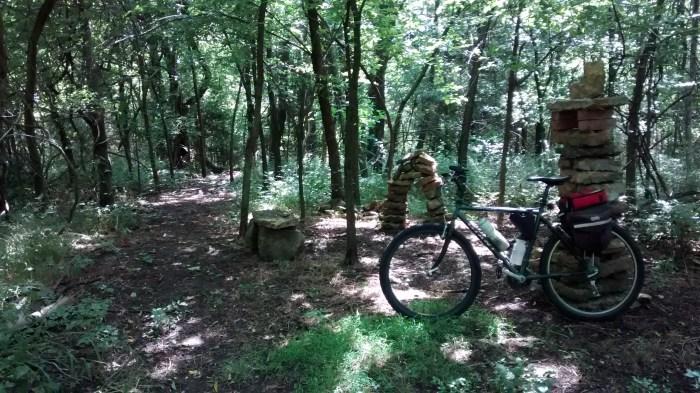 Rock garden at Lehigh Portland Trails.