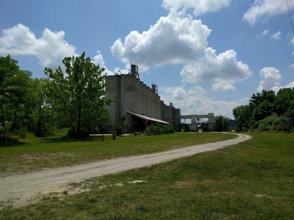 Looking to the south, you'll see the silos form the Lehigh Portland Cement Company (private property).