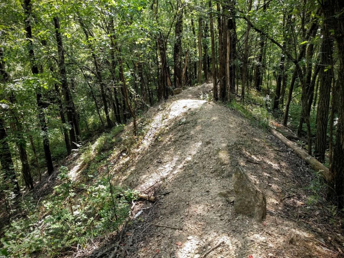 Ride along the naked ridgeline on the Rubble Ridge Trail.