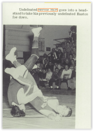 Bernie Hart in Action (Photo Courtesy of Bethlehem Liberty H.S. Yearbook)