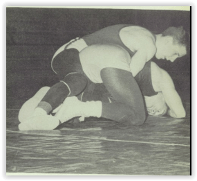 State Champ John Eckenrode Rides Opponent (Photo Courtesy of Bethlehem Liberty H.S. Yearbook)