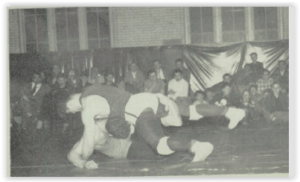 Dave Laury and Frank Gutierrez Battle (Photo Courtesy of Northampton H.S. Yearbook)