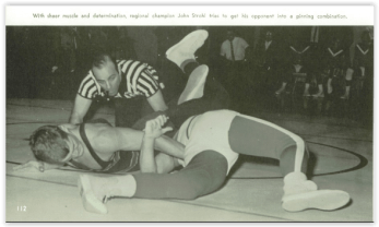 Strohl Often Delivered the Fall for Coach Gutierrez (Photo Courtesy of Bethlehem Liberty H.S. Yearbook)