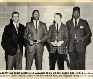 Coach Fornicola & 3 Husky Dsitrict Champs (Photo Courtesy of Dieruff H.S. Yearbook)
