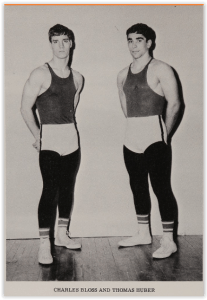 Tom Huber & Ken Bloss - Hellertown Team Captains (Photo Courtesy of Hellertown H.S. Yearbook)