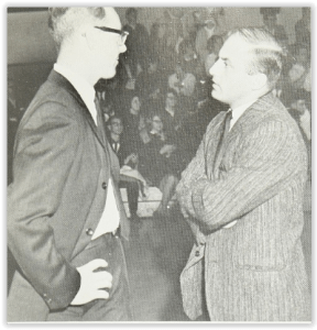 Notre Dame Coaches Strategize (Photo Courtesy of Notre Dame H.S. Yearbook)