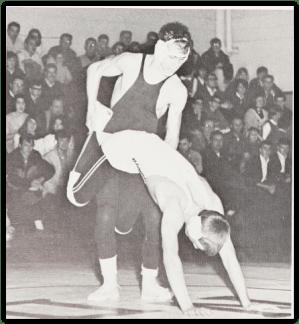 Bob Scheetz Battles AL Nicusanti (Photo Courtesy of Notre Dame Yearbook)