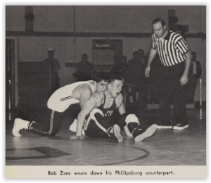 Bob Zaro Started the P-Burg Rally (Photo Courtesy of Phillipsburg H.S. Yearbook)