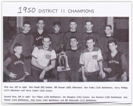 1950 District XI Wrestling Champs