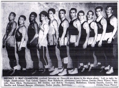 1954 District Wrestling Champions