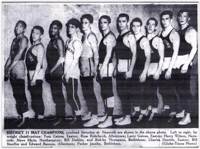 1954 District Wrestling Champions