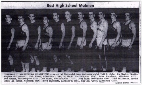 1956 District XI Wrestling Champs