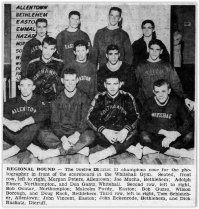 1960 District XI Wrestling Champs