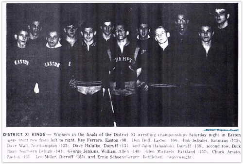 1964 District XI Wrestling Champs