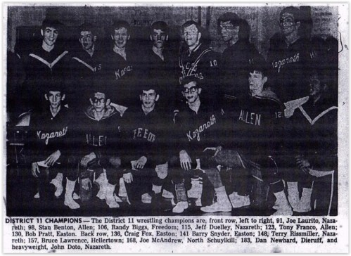 1968 District XI Wrestling Champs