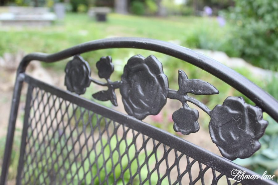 Spray Paint Patio Furniture   Our Vintage Wrought Iron Patio Set     Spray Paint Patio Furniture   Our Vintage Wrought Iron Patio Set   Lehman  Lane