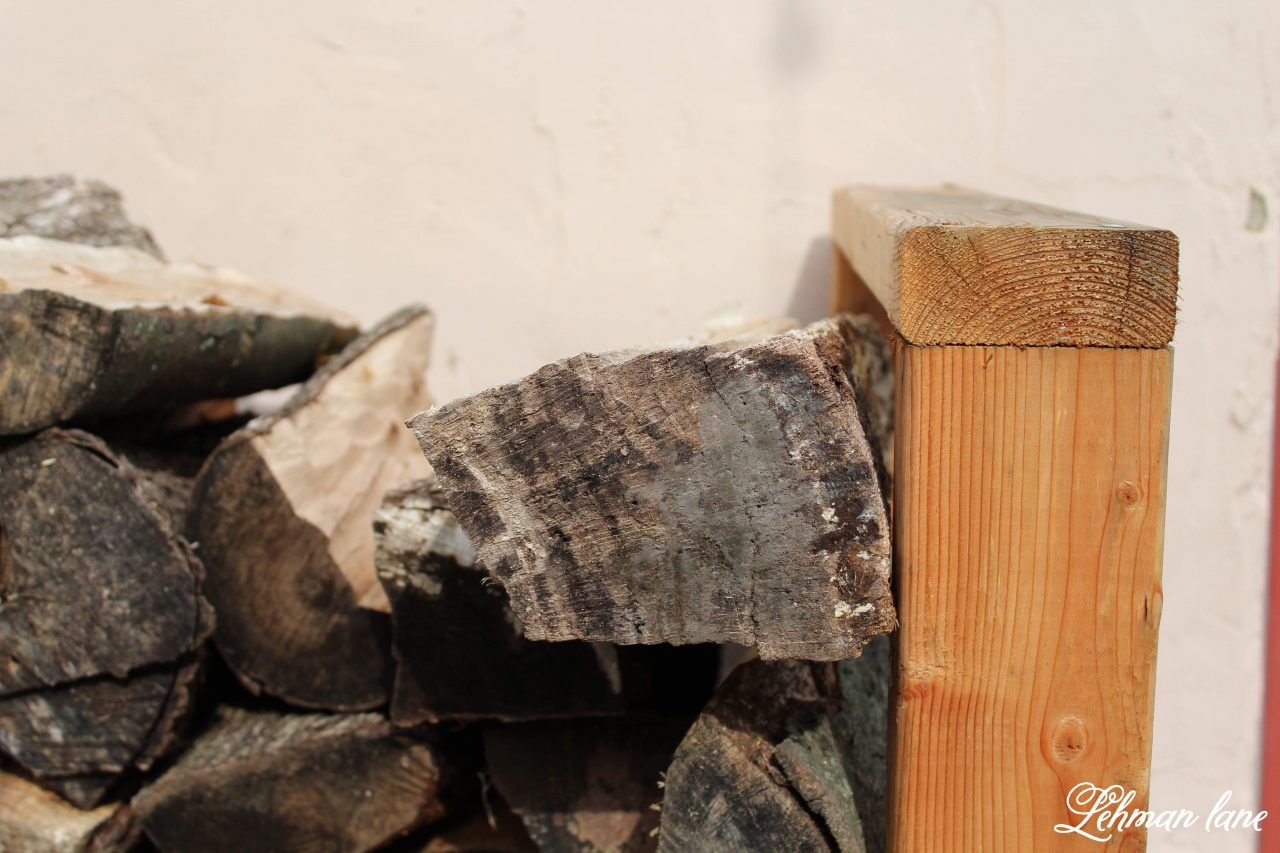 how to build a easy diy firewood rack