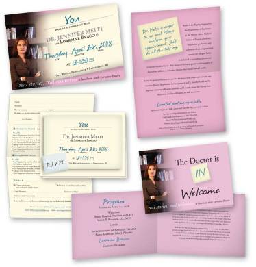 Lorraine Bracco fundraising event materials