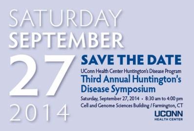 Huntington's Disease program invitation at UConn