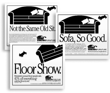 Print ads and headlines (Darby O'Brien Advertising)