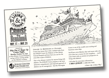 Diabetes Cruise print ad (Mousetrap Advertising and Design)