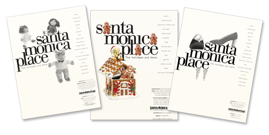 Print ads for mall (Mousetrap Advertising and Design)