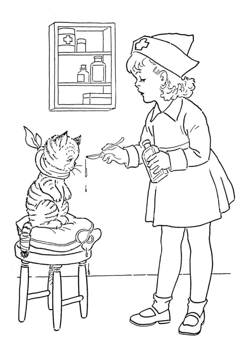 coloring-page-nurse-Graphics-Fairy2sm