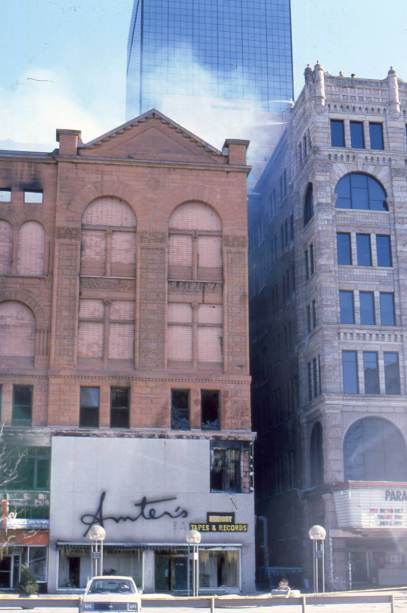 My office was in the Kittredge Building to the right of the fire.