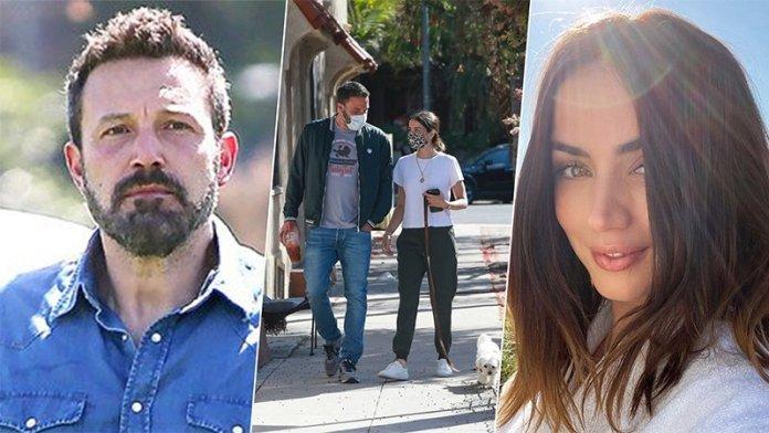 Ben Affleck Spotted Taking A Walk Lady Love Ana de Armas & Their Pet Dog