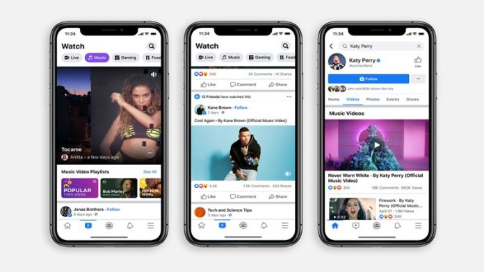 Facebook to show official music videos on its network in US