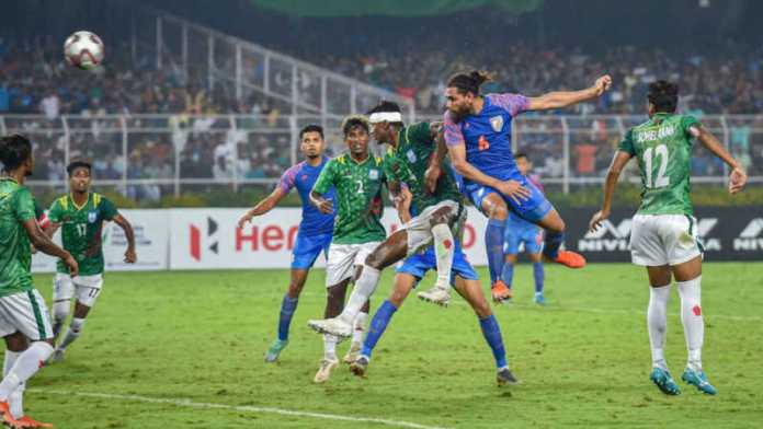 88th-min goal helps India salvage 1-1 draw vs B'desh in FIFA WC Qualifier
