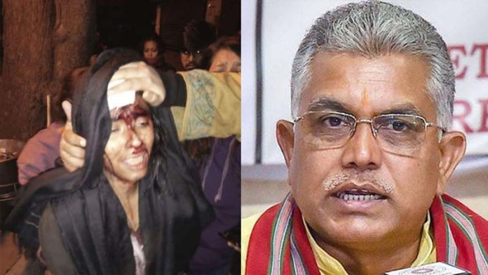 Don't know if it was blood or paint on JNUSU Prez's head: BJP leader