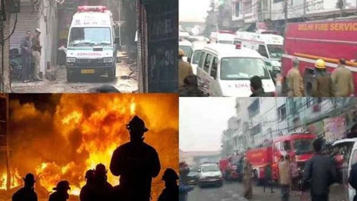 Fire breaks out in factory in Delhi's Anaj Mandi, at least 35 dead