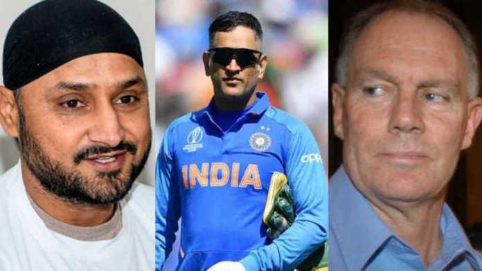 Harbhajan mocks Greg Chappell after he says he groomed Dhoni's finishing skills