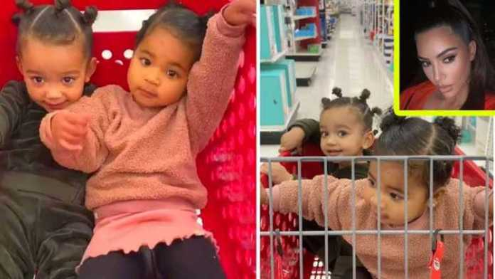 Kim Kardashian Shops At Target With Daughter Chicago West & Niece True Thompson