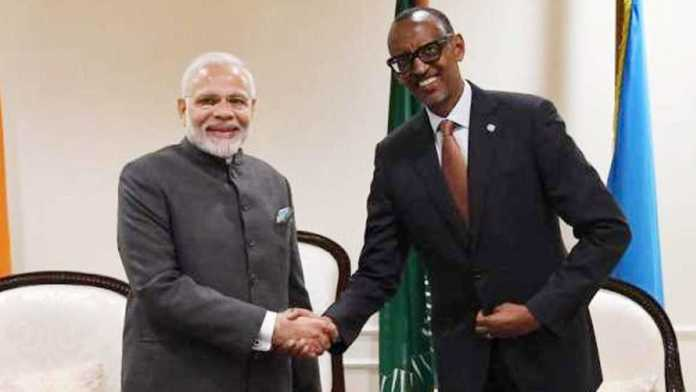 PM Modi as Rwandan Prez thanks him for help in COVID-19 fight
