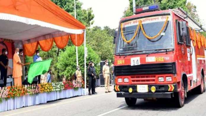 UP CM Yogi inaugurates 56 fire tenders for sanitisation work amid COVID-19 crisis